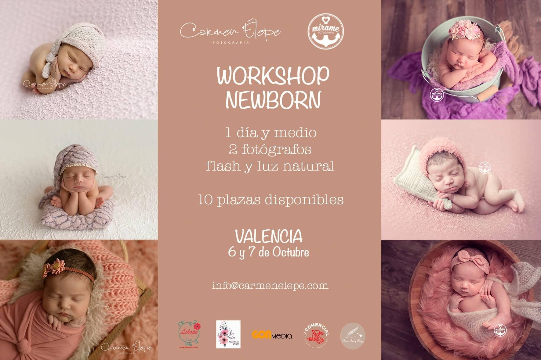 workshop fotografia newborn espana valencia alicante castellon carmen elepe mirame fotografia